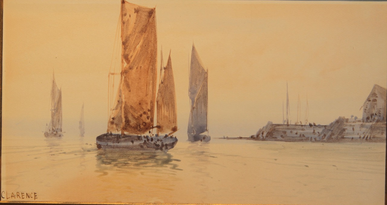 H Clarence Sailing Along the Shoreline Unframed Final