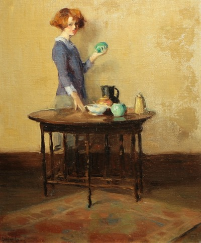 Marion Long Girl with a Green Vase Unframed Final